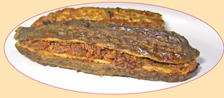 cooked stuffed karela