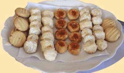 Delicious Butter, Almond and Coconut Nest Biscuits